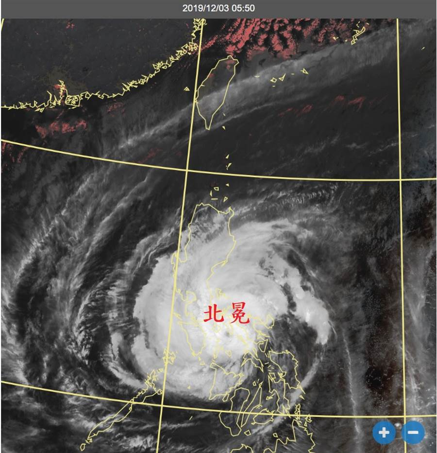 圖為結構完整的中度颱風北冕。(翻攝自 鄭明典臉書)