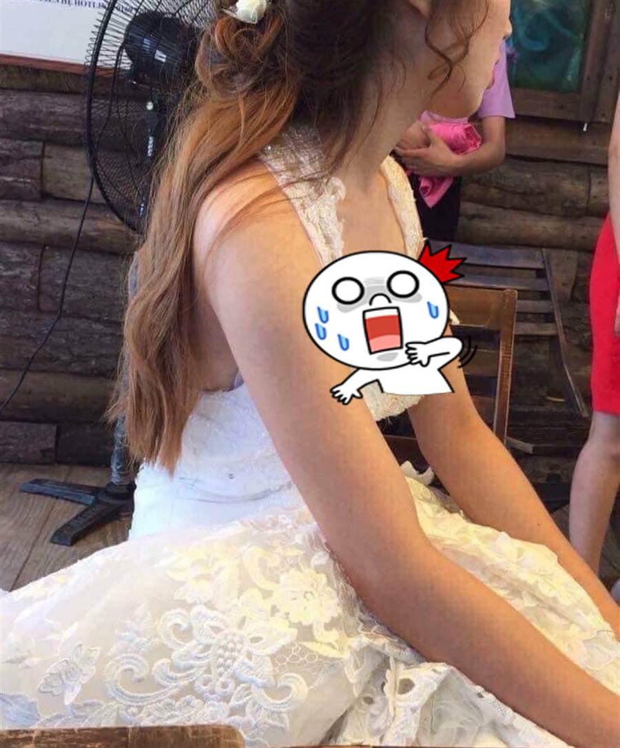 誤拍新娘內在美 網嚇歪「詐騙集團」(圖片取自/爆廢公社)