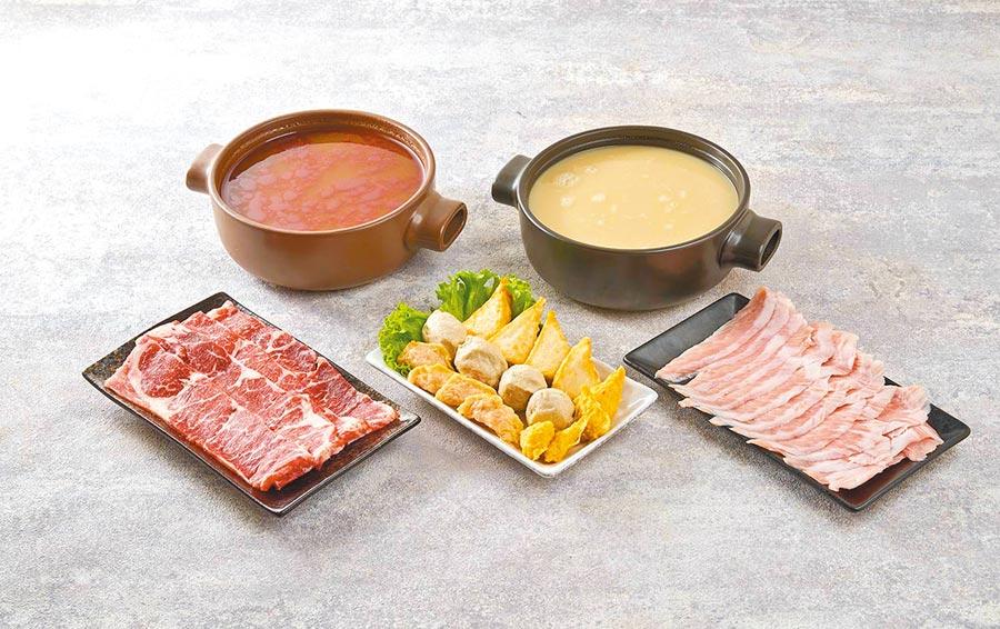 家樂福新品「海底撈自煮火鍋-番茄牛肉」,每盒含湯汁約335g至370g,215元。(家樂福提供)