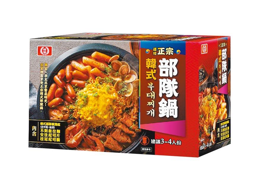 全聯獨家「桂冠正宗韓式部隊鍋」930g,原價358元、12月5日前特價339元。(全聯提供)