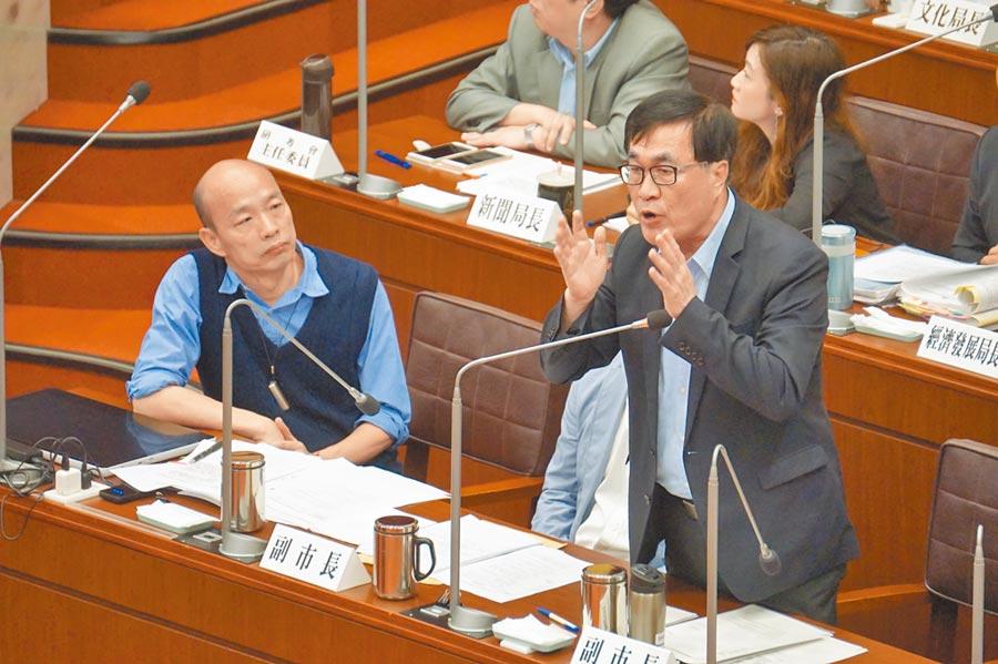 高雄市副市長李四川(右)。(本報系資料照片)