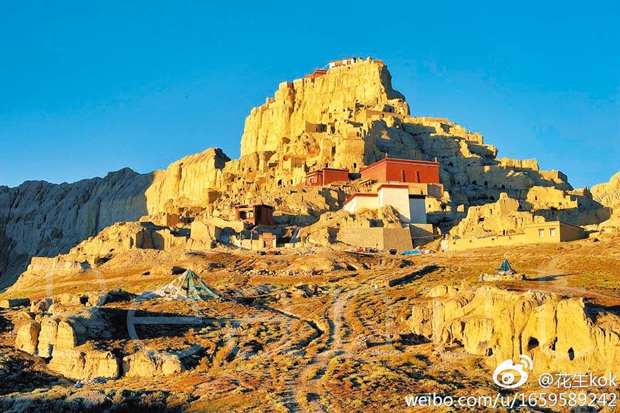 位於西藏自治區的古格王城遺址。(取自新浪微博@花生kok)