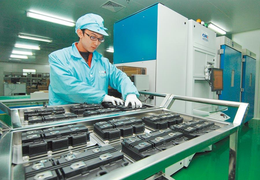 功率半導體器件。(新華社資料照片)