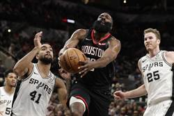 NBA》大戰58分鐘 馬刺2OT擊退火箭