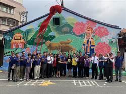 竹山高中美術班「碰壁」 透過彩繪說故事