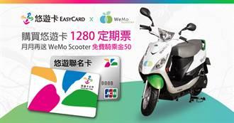 悠遊卡定期票更好用 每月可享50元WeMo騎乘金