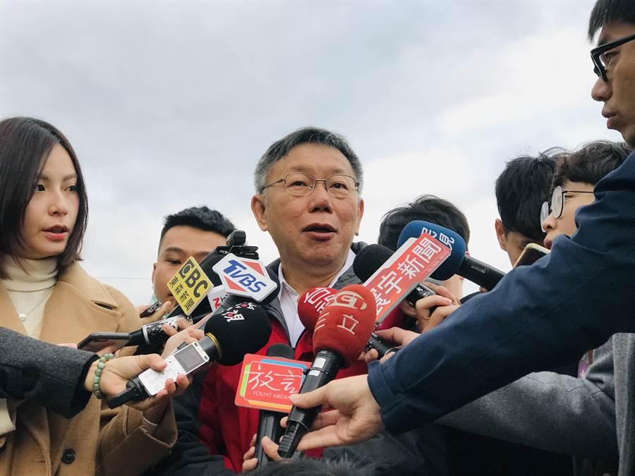 台灣民眾黨主席柯文哲。(張穎齊攝)