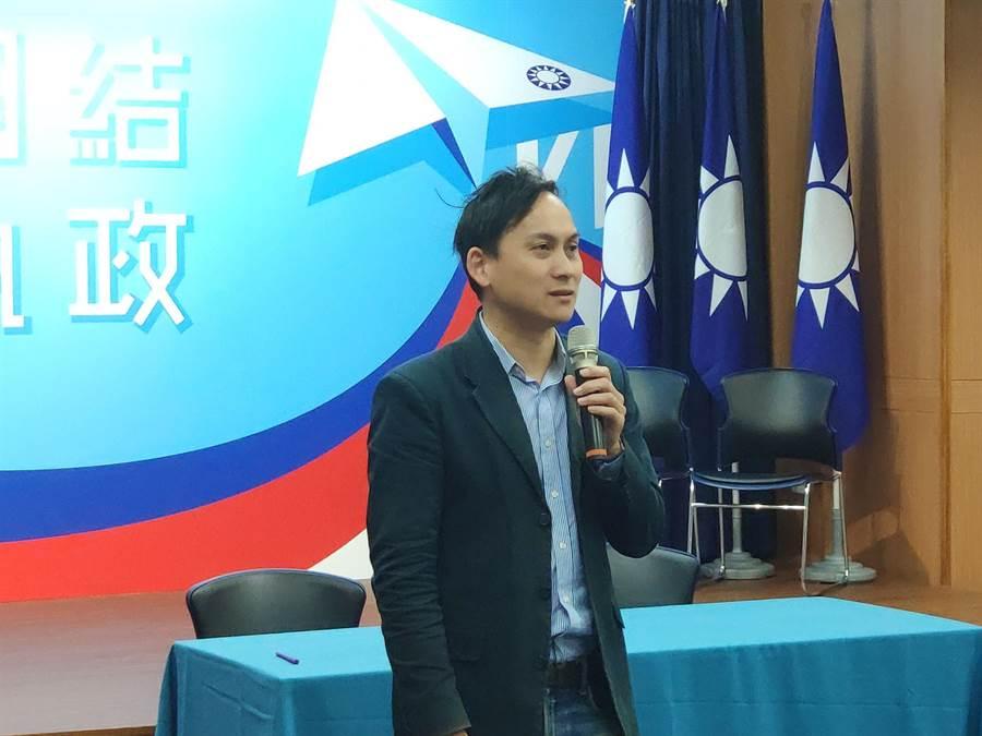 韓國瑜競選辦公室發言人葉元之。(黃福其攝)