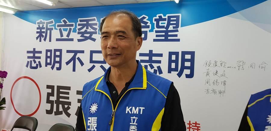 國民黨台東區域立委參選人張志明。(楊漢聲攝)