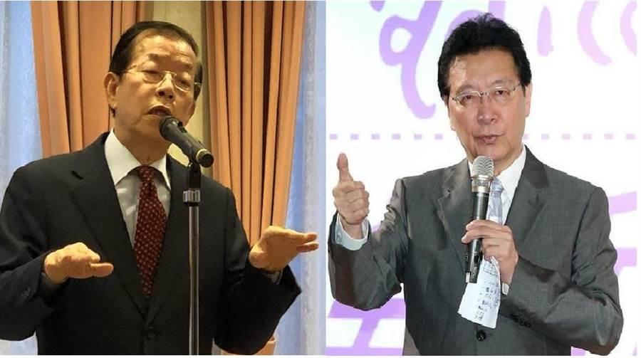 駐日代表謝長廷謝長廷(左)、資深媒體人趙少康(右)。(圖/合成圖,本報資料照)