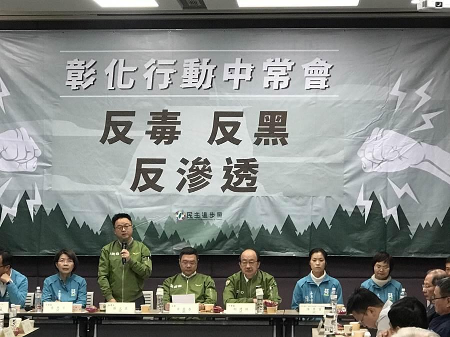 卓榮泰坦承,楊蕙如確實害是民進黨員。照片:曾薏蘋攝