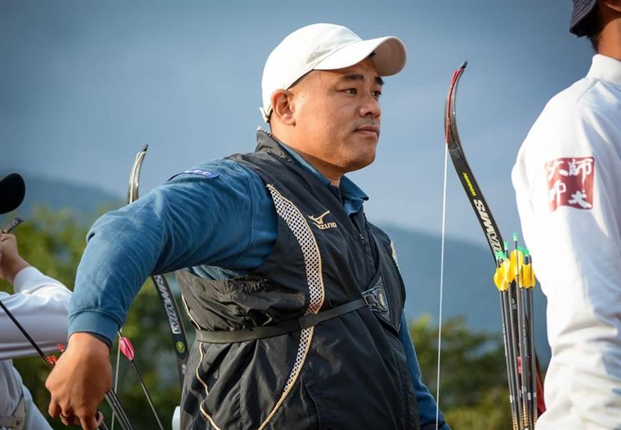 35歲射箭選手郭振維參加2020東京奧運國手選拔,希望能第3度挑戰奧運殿堂。(射箭協會提供/陳筱琳台北傳真)