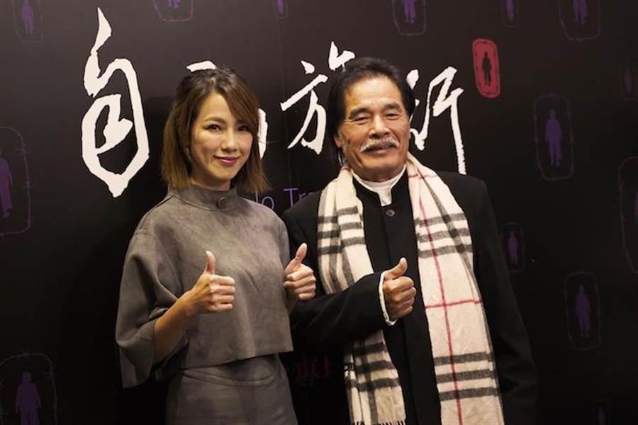 黃瑄(左)、雷洪特地抽空出席電影放映會。(佛教蓮花基金會提供)