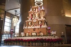 搶耶誕商機 台北遠東飯店打造全台最高薑餅城堡