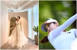 金泰希連弟媳都超正 「高爾夫女王」低胸性感婚紗出嫁