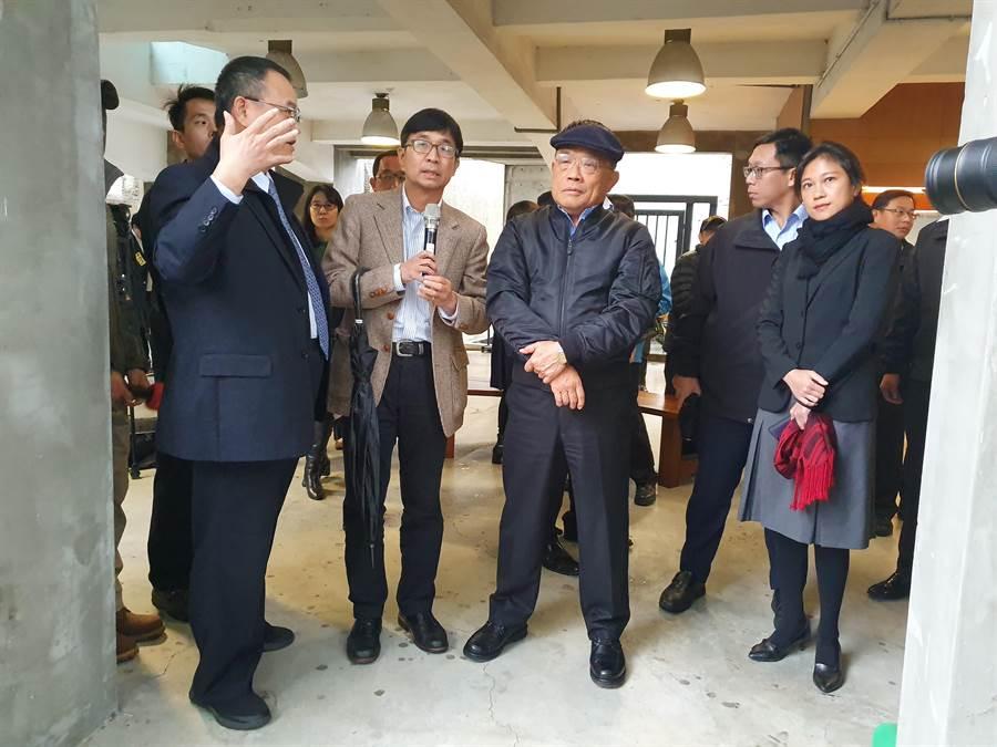 行政院長蘇貞昌今(6日)下午3時許,前往國家人權博物館「白色恐怖景美紀念園區」參觀。(葉書宏攝)