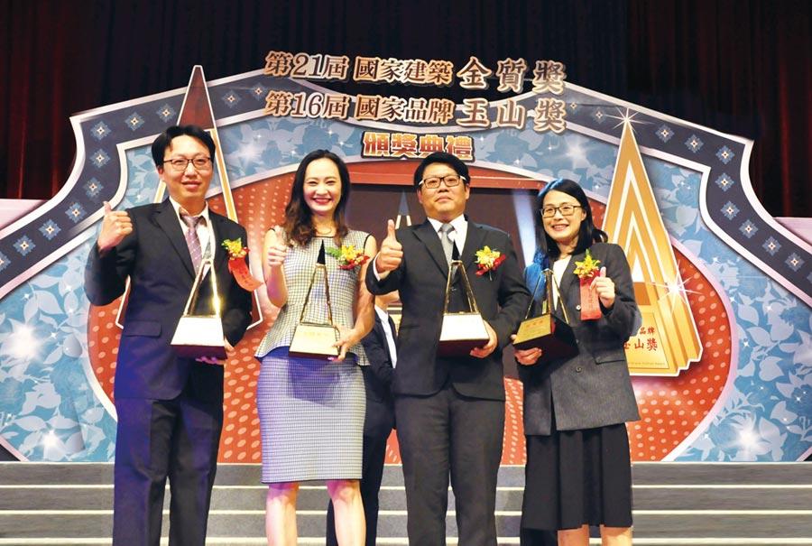 豐邑機構獲頒「國家建築金質獎暨首獎」。圖╱江富滿