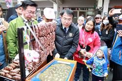 西港胡麻季有吃有玩 黃偉哲體驗打香腸