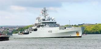 獨》企業號來了 英艦正穿行台灣海峽