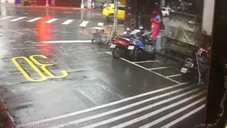 林森北路四面佛疑被縱火 警追緝雨衣男