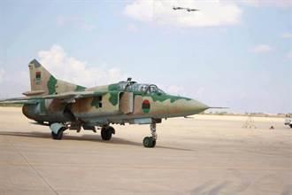 利比亞叛軍米格23 遭肩射飛彈擊落