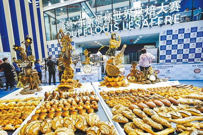 上海烘焙賽事。(新華社)