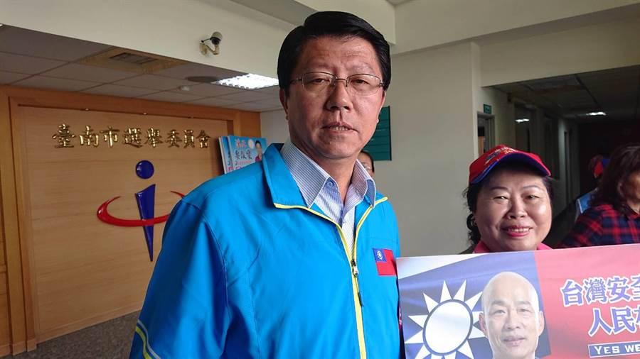 國民黨台南市黨部主委謝龍介批評民進黨用暗黑網軍鬥爭政敵與同志。(本報資料照)