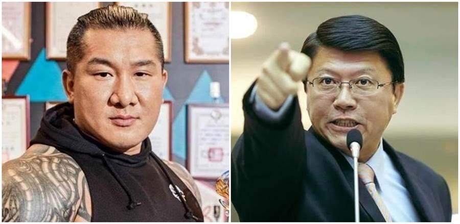 「館長」陳之漢(左圖)、國民黨台南市黨部主委謝龍介(右圖)。(本報系資料照)