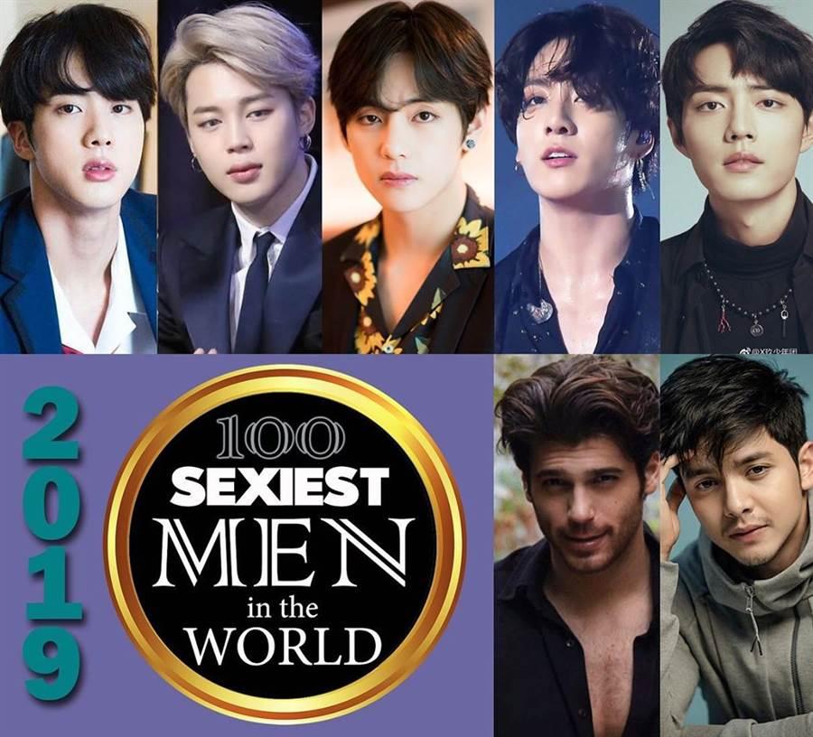 2019全球百大性感男排行,亞洲臉孔拿下眾多前面名次。(圖/翻攝自starmometer)