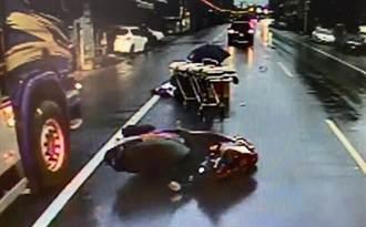 男撞路邊臨停車自摔 又遭後車輾身亡