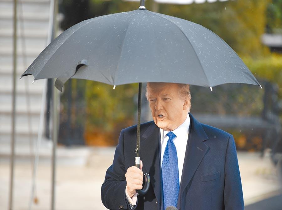 美國總統川普多次批評北約國家占美國便宜,要求其他成員國增加防務開支。(中新社)
