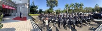 立富自行車公司董座蕭智元 慨捐30輛警用機車回饋媽媽的故鄉