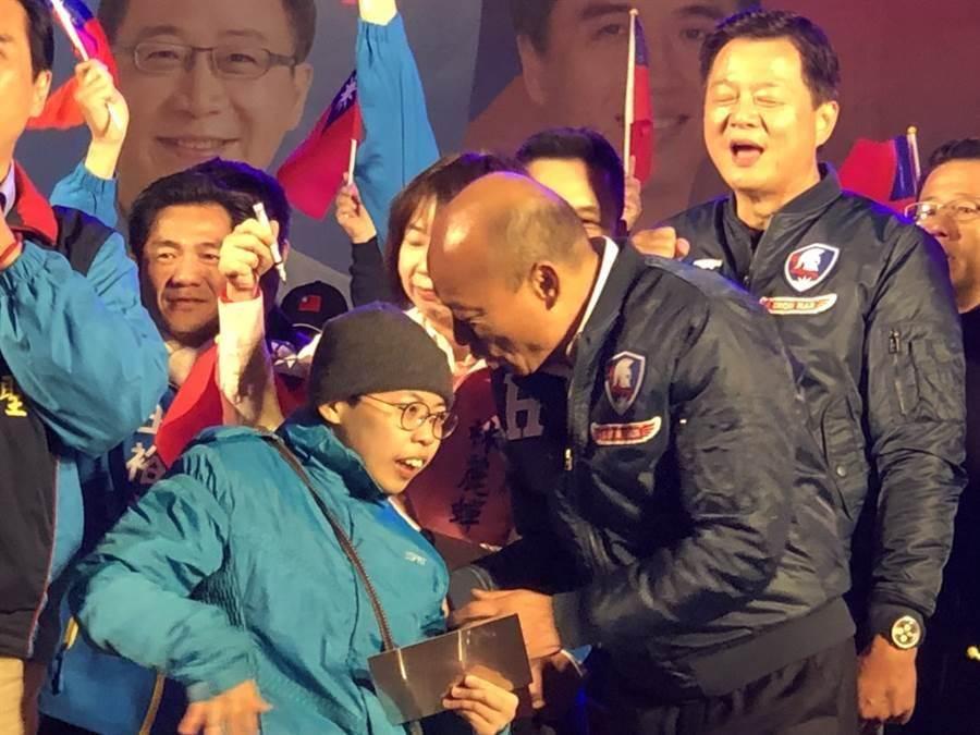 黃筱智支持韓國瑜卻被霸凌。(圖/呂筱蟬攝)