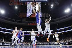 NBA》七六人擊退金塊 主場傲視13連勝