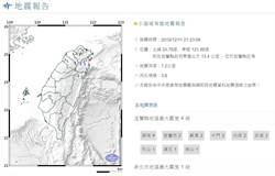 同地連兩震!宜蘭22:02規模4.0地震 最大震度4級