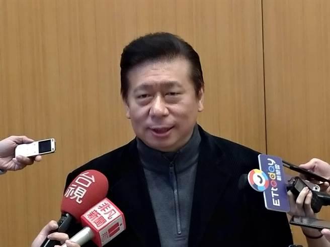 前陸委會主委張顯耀接任國民黨義務副秘書長,張顯耀預告,真正選戰現在才開始。(黃福其攝)