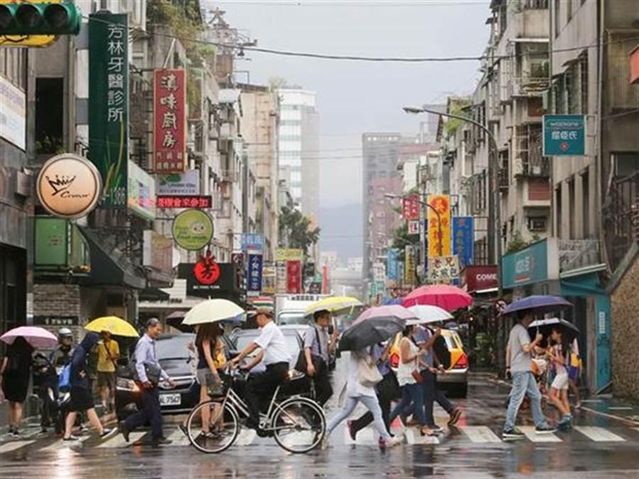 氣象局:今天明天迎風面北台灣、東半部變天有雨,周日回暖30度以上。(資料照)