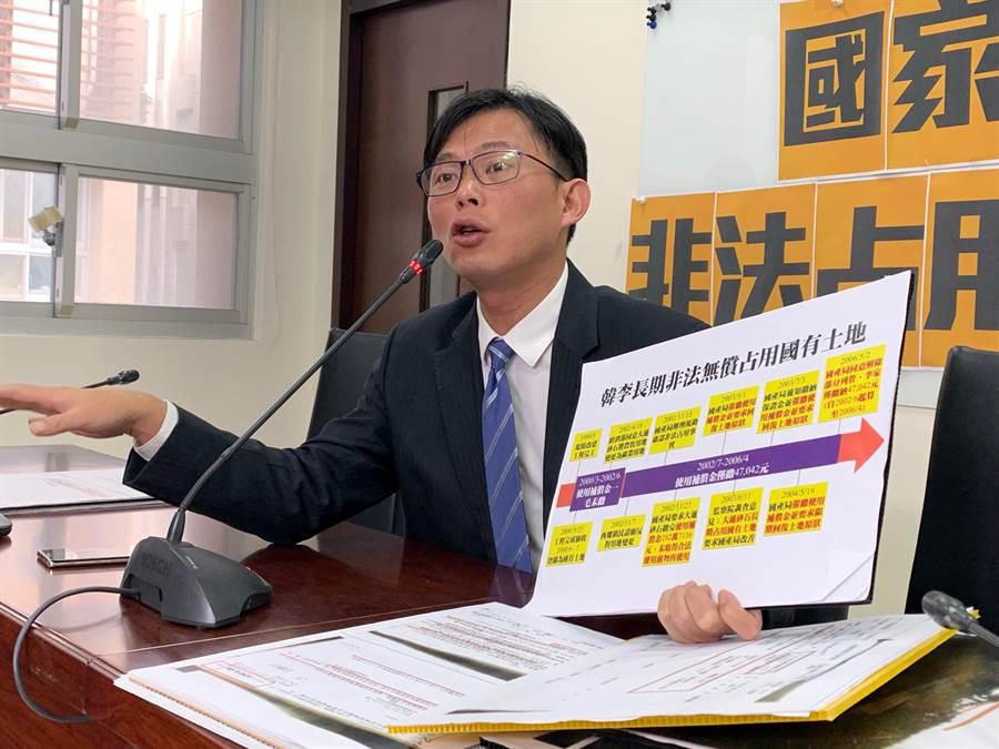 黃國昌在立法院質詢時,多次批評獨立董事僅為公司門神,是坐領高薪的肥貓工作。(報系資料照)