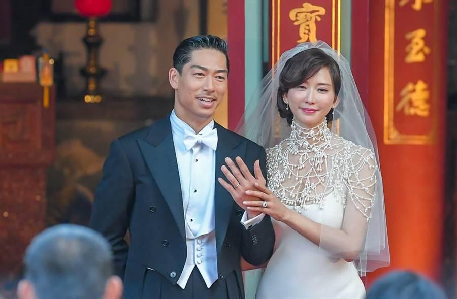 林志玲與AKIRA上月在台南舉辦世紀婚禮。(圖/本報系資料照片)