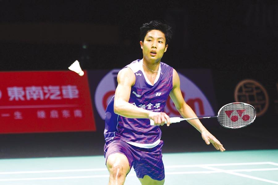 台灣羽球一哥周天成在馬來西亞大師賽男單第一輪輕鬆獲勝。(中新社資料照片)