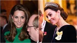 凱特王妃美暈眾人!深V絲絨禮服配「祖傳皇冠」網讚翻