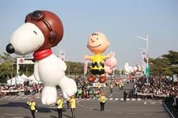 「OPEN!卡通氣球大遊行」史努比、KITTY可愛飛天