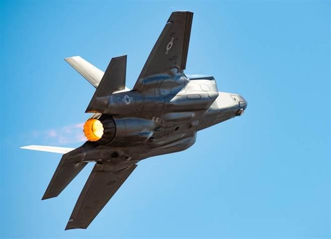美國空軍F-35戰機的資料照。(美國空軍)