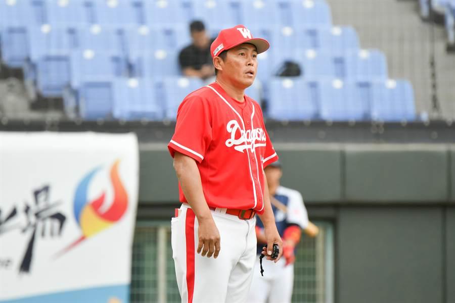 味全龍總教練葉君璋給新龍將打80分。(中職提供/鄧心瑜傳真)