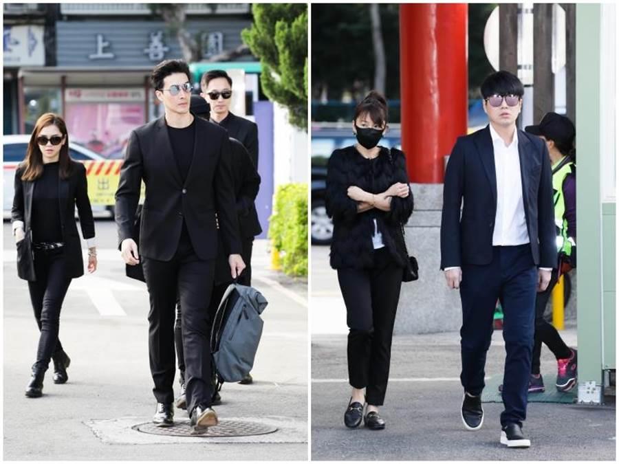 錦榮(左)、李易、六月夫婦。影視攝影組