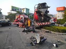 剎車故障 水泥車連撞1汽車6機車1死5傷