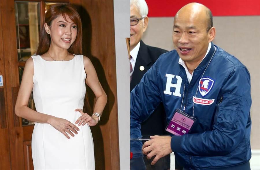 韓國瑜力挺波特王,惹怒「女版黃安」劉樂妍,揚言不回來投給他。(中時資料照片)