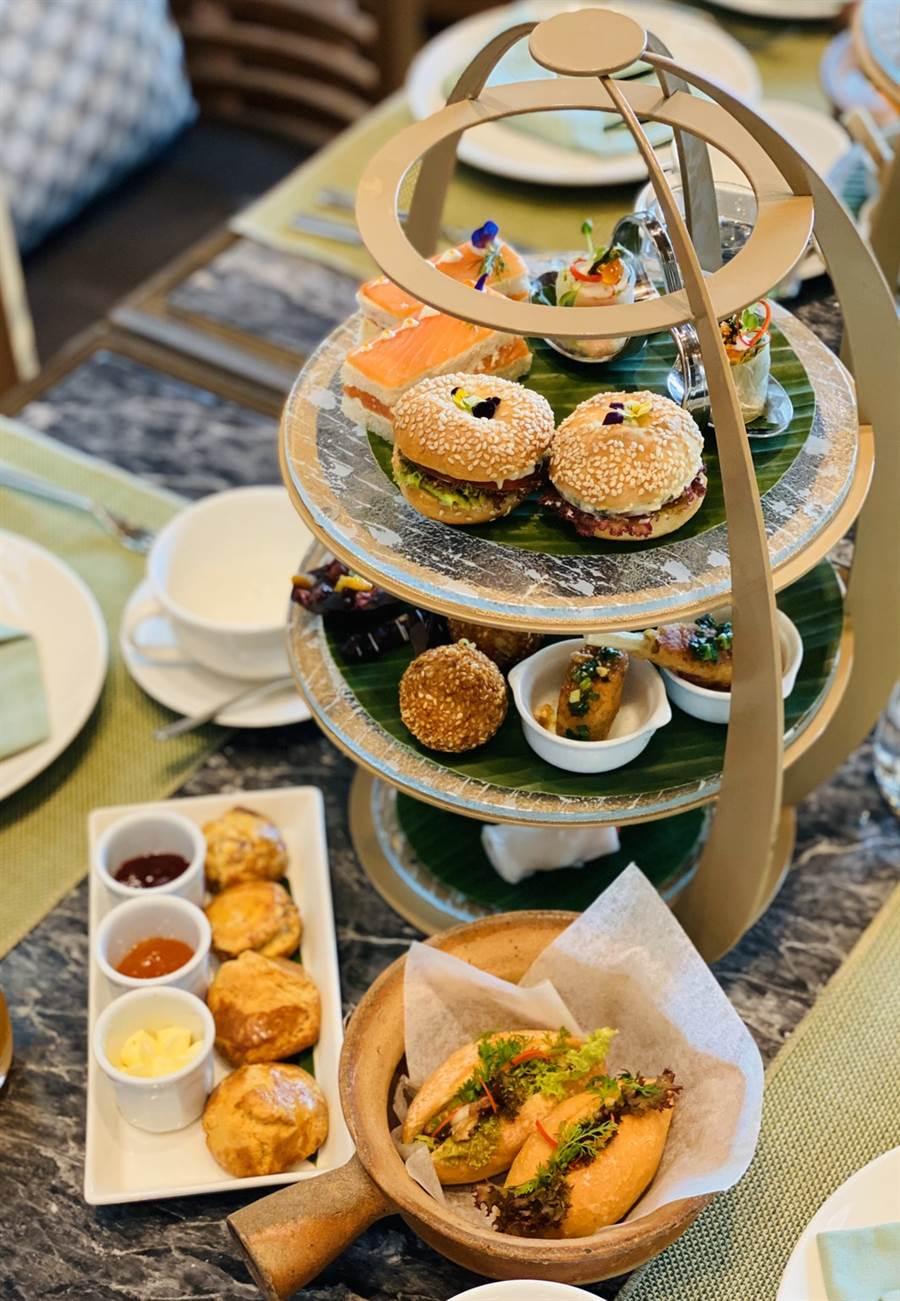 洲際酒店下午茶。 圖/盈達旅遊提供