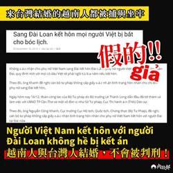 「越人嫁到台灣犯法關3年」  移民署怒斥假訊息