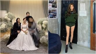 美腿女星自曬婚禮穿搭「只露出頭」網讚爆